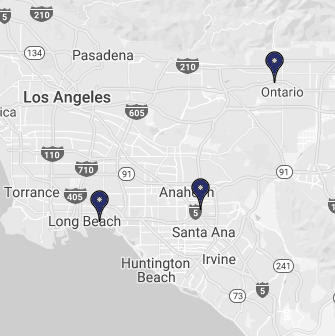 Law Offices locations in Sputhern California